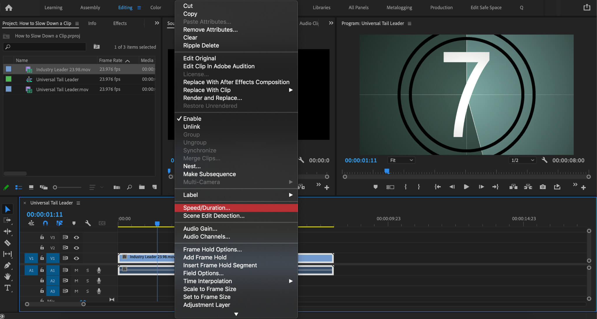 How to speed up a video using SpeedDuration