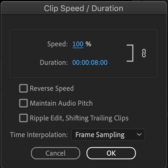 SpeedDuration controls — How to speed up a video
