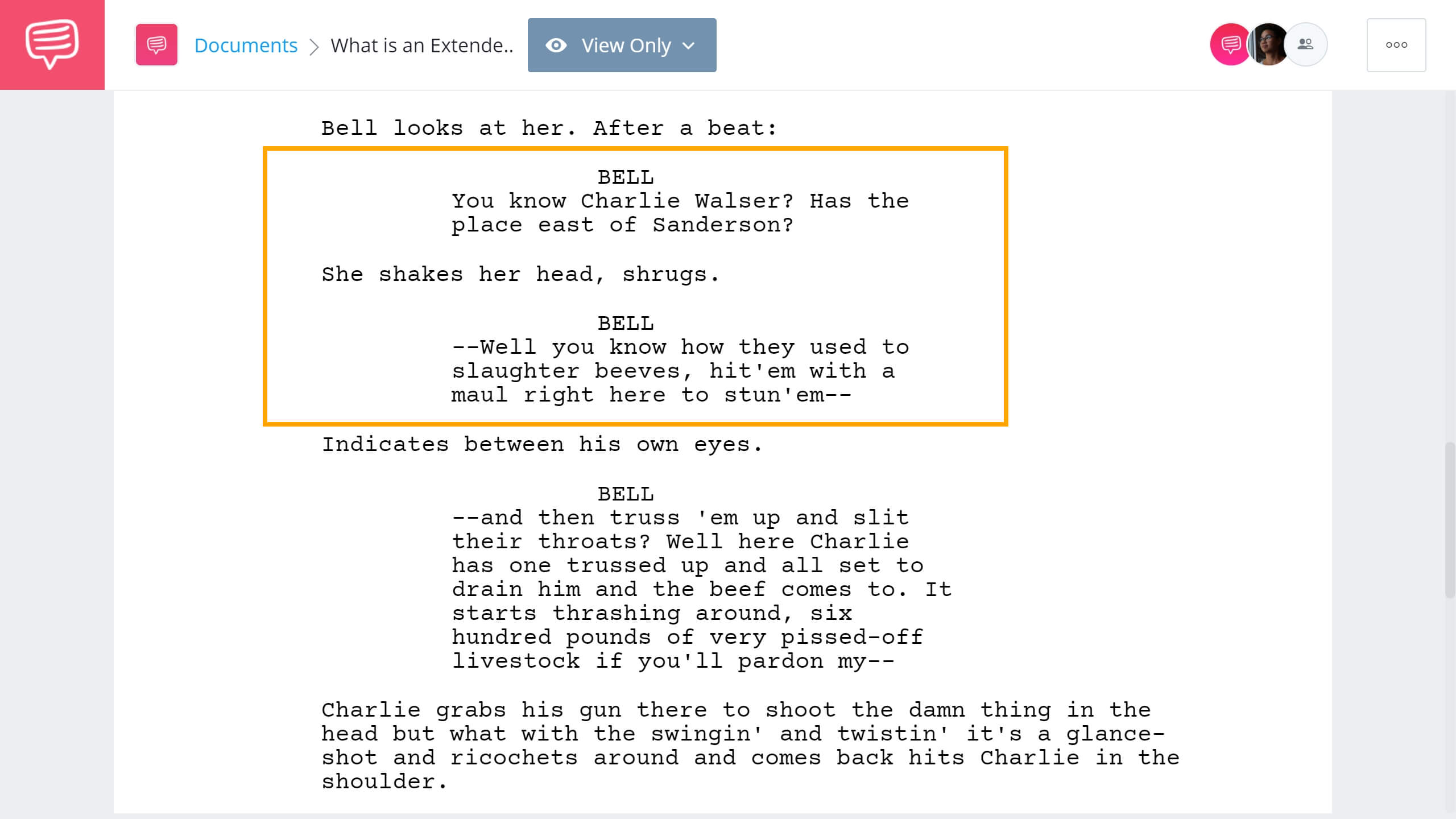 What is an Extended Metaphor - No Country for an Old Men Example - StudioBinder Screenwriting Software