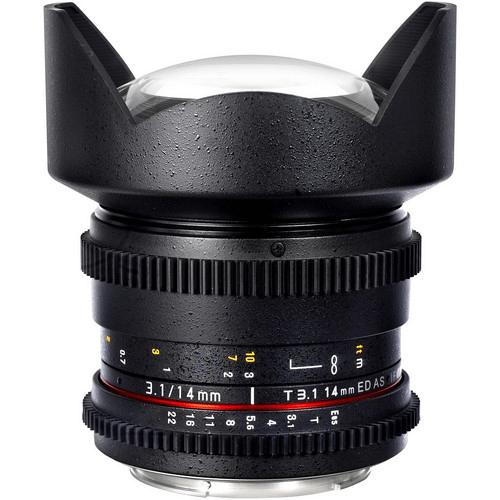 Best Canon Camera Lenses • Samyang 14mm T3.1 Cine Lens
