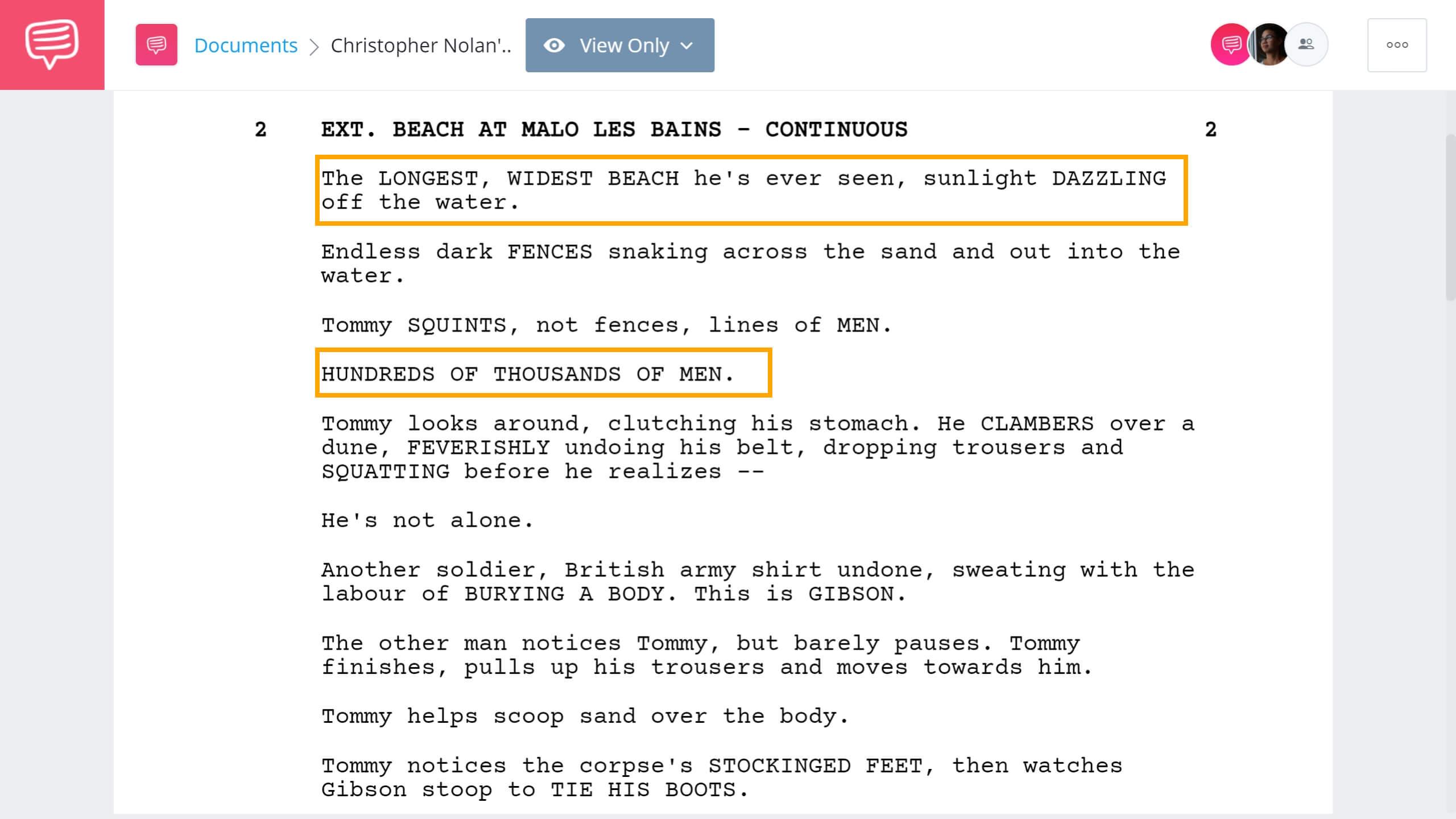 Christopher Nolan Writing Process - Dunkirk Script Example - StudioBinder Screenwriting Software