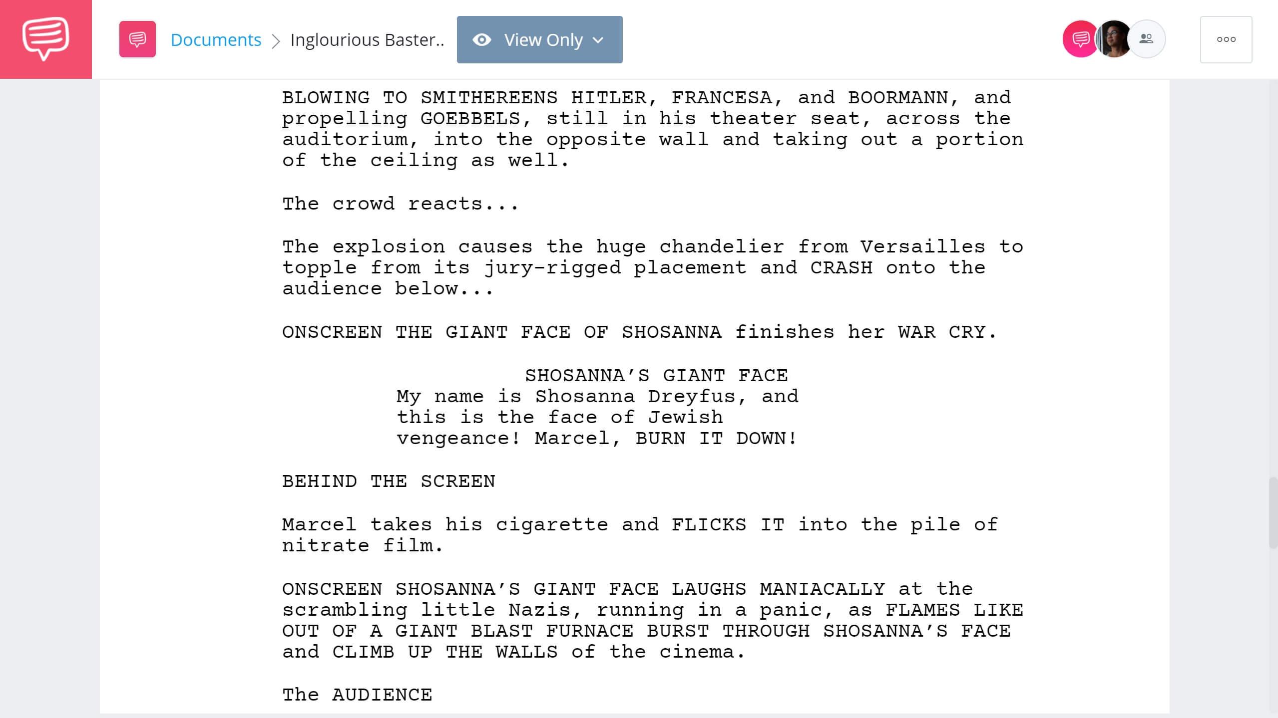 Inglorious Basterds Script Teardown - Ending - StudioBinder Screenwriting Software