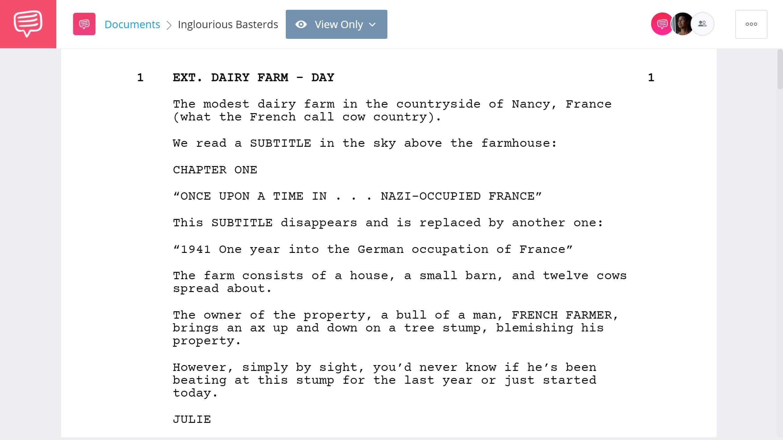 Inglorious Basterds Script Teardown - Full Script PDF Download - StudioBinder Screenwriting Software