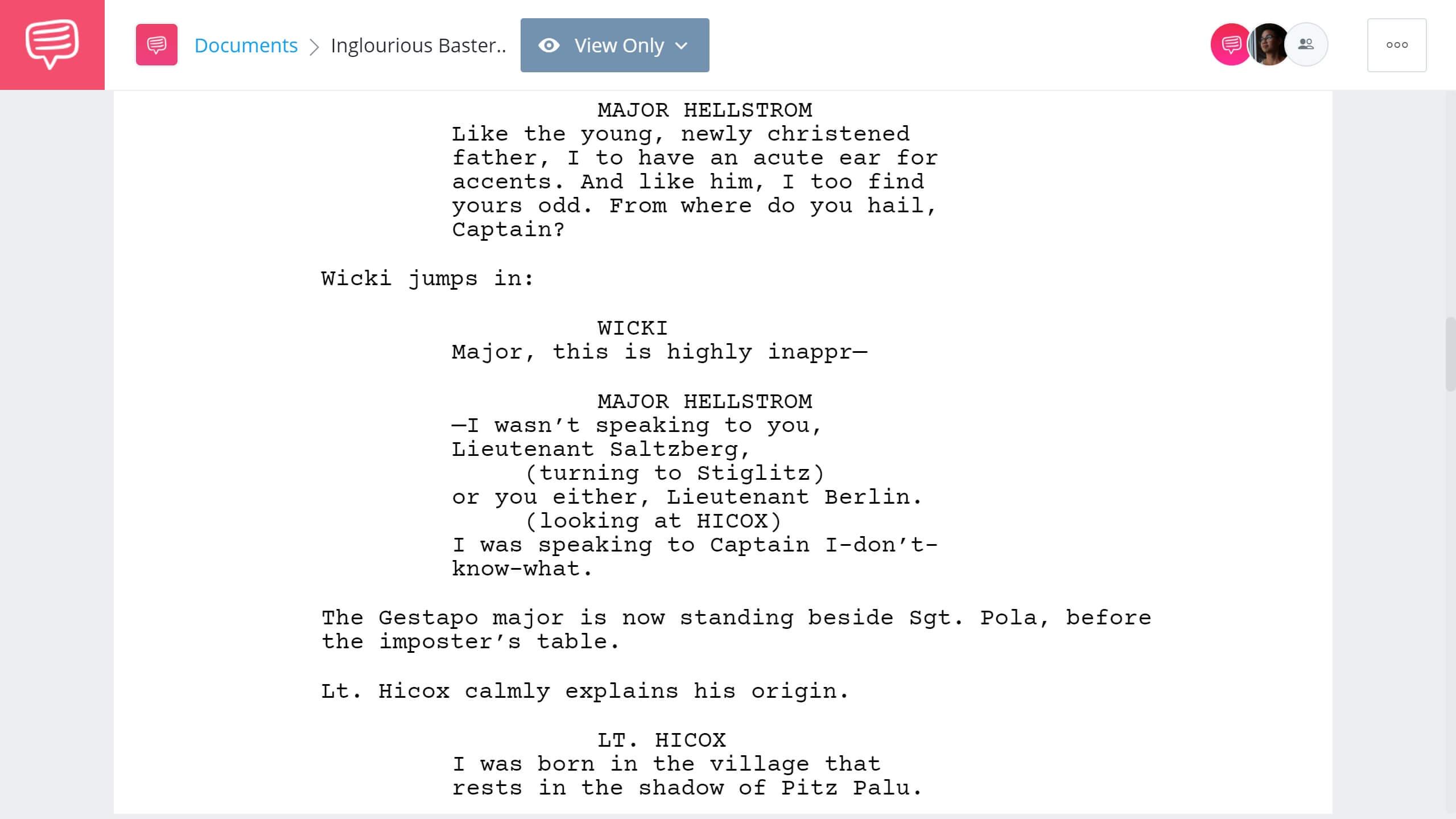 Inglorious Basterds Script Teardown - Tavern Scene - StudioBinder Screenwriting Software