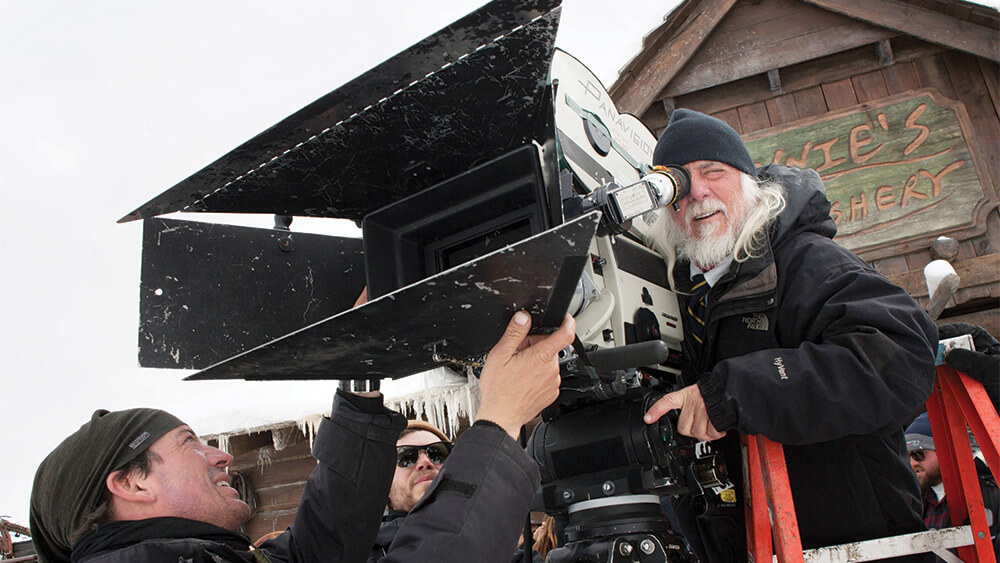 Richardson is a big fan of operating with a viewfinder...