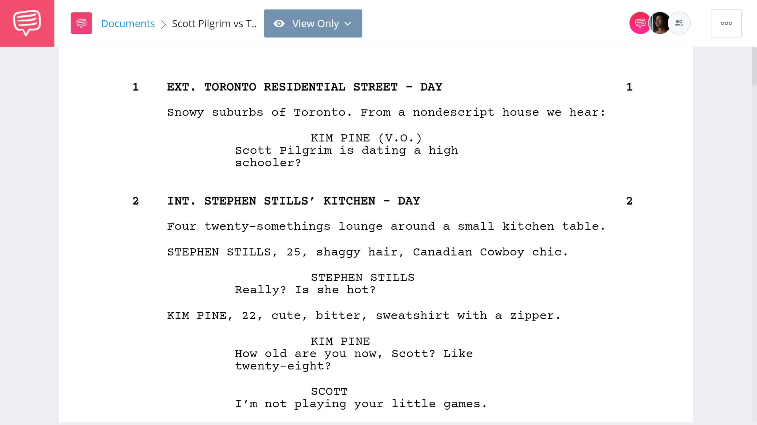 Scott Pilgrim vs The World Script Teardown - Full Script PDF Download - StudioBinder Screenwriting Software
