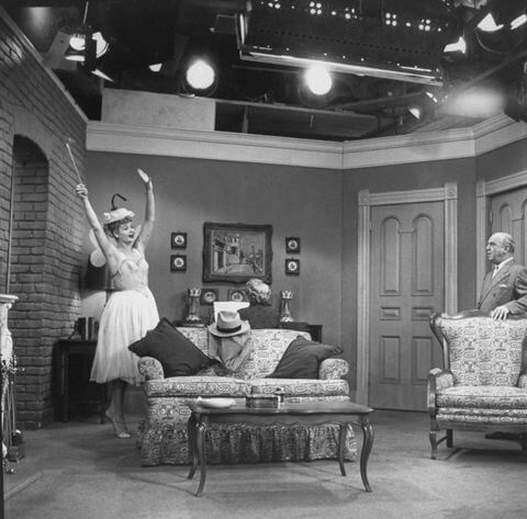 Set of I Love Lucy - High key lighting examples