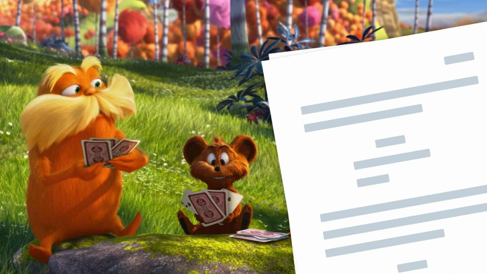 The Lorax Script PDF Download Characters - Quotes - StudioBinder