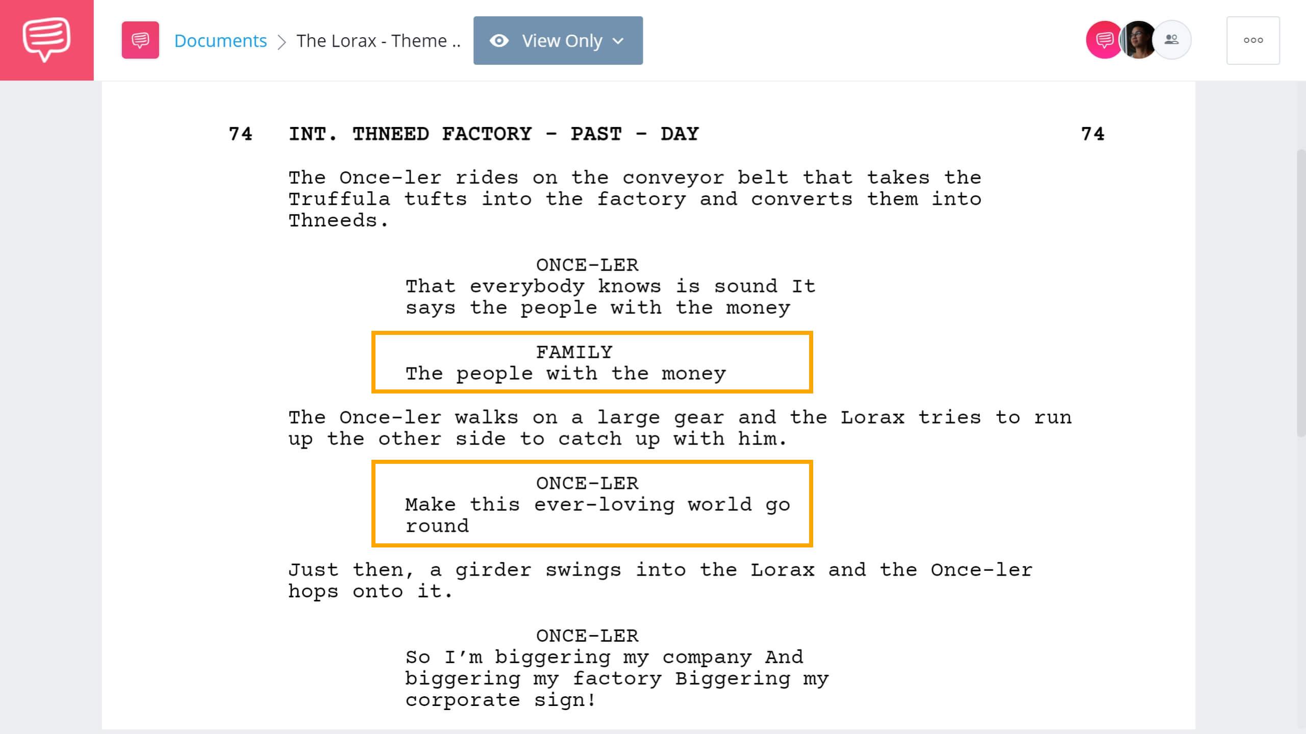 The Lorax Script Teardown - Lorax Theme - StudioBinder Screenwriting Software