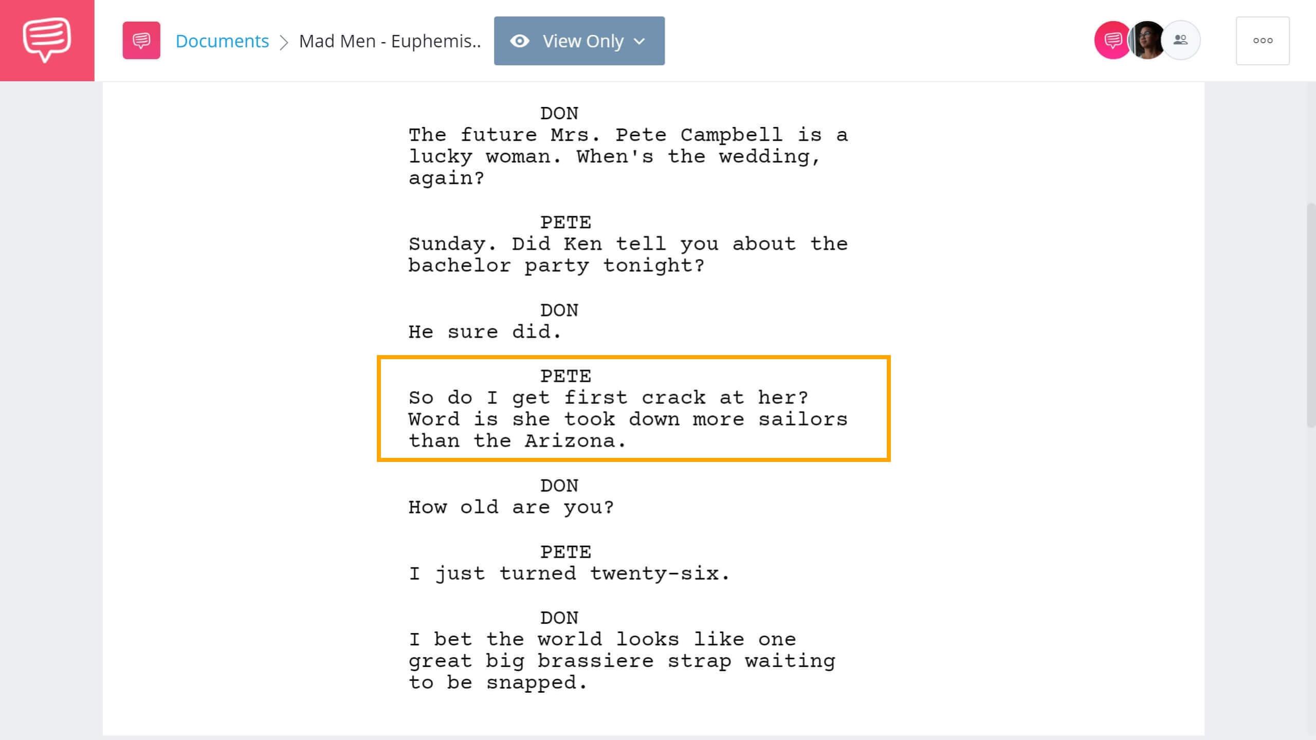 What is Euphemism - Mad Men Example - StudioBinder Screenwriting Software