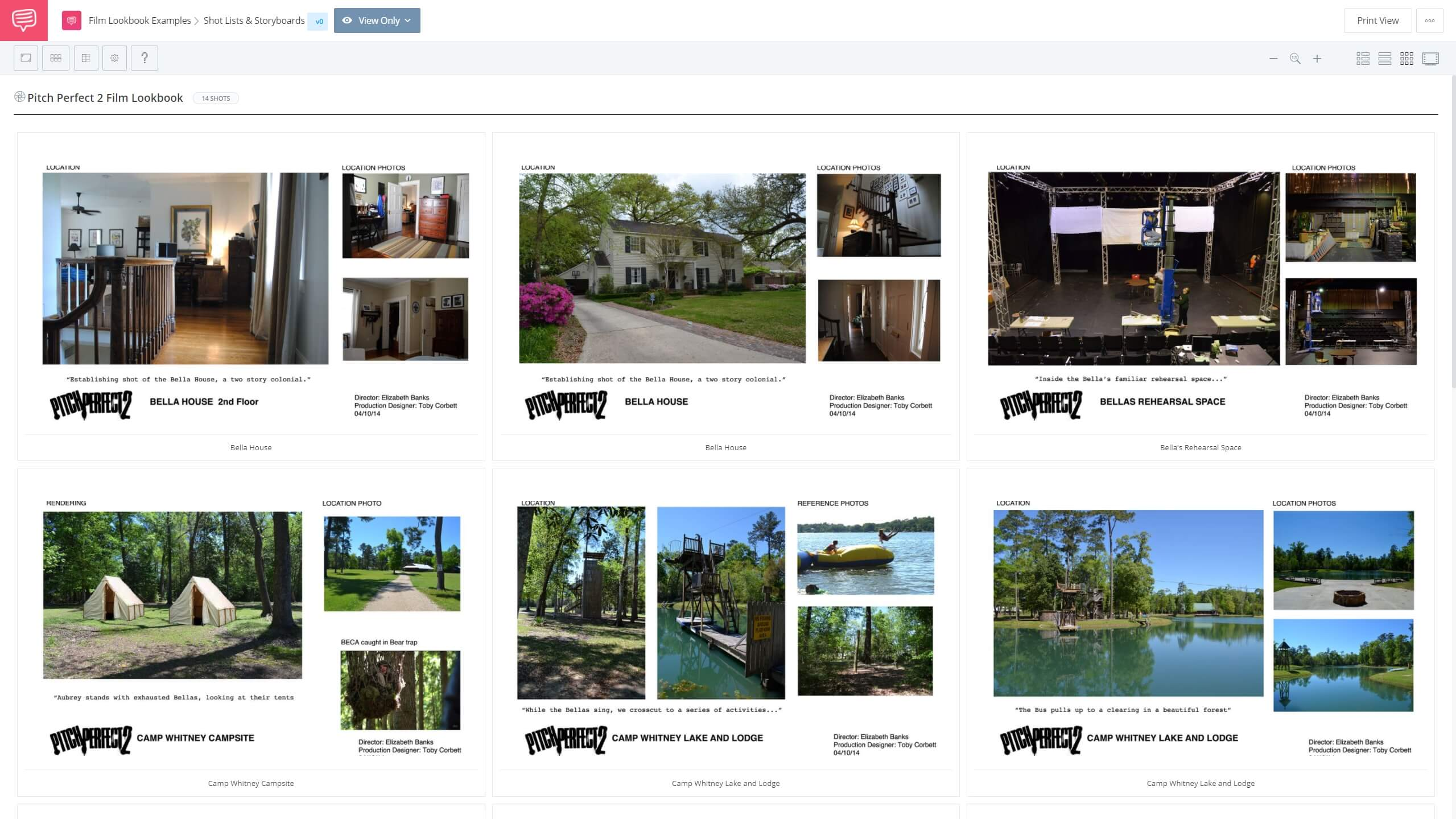 What is Film Lookbook Example - Pitch Perfect 2 Lookbook Example - StudioBinder Shot Listing Software
