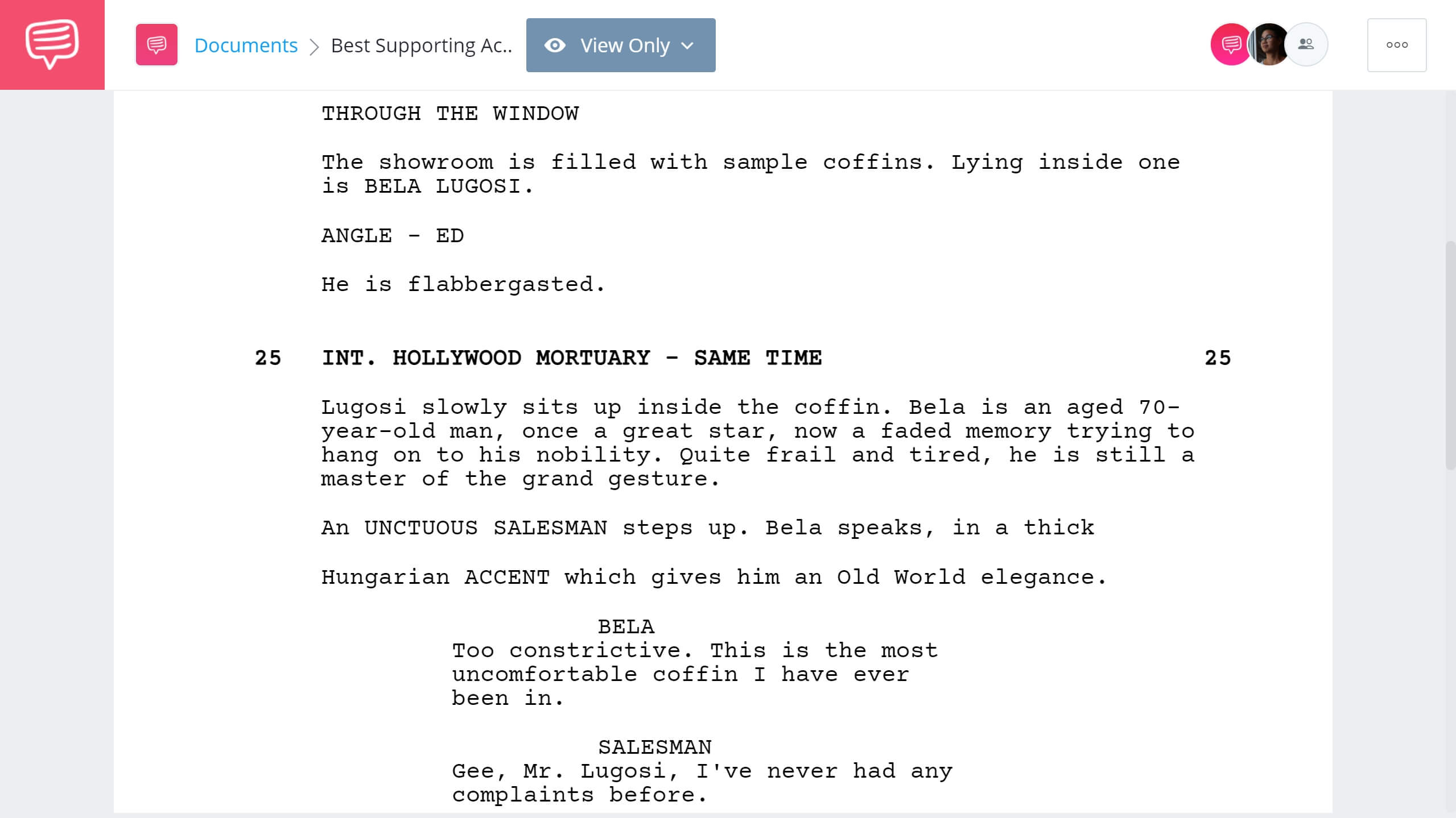 Academy Award for Best Supporting Actor Ed Wood Excerpt StudioBinder Screenwriting Software