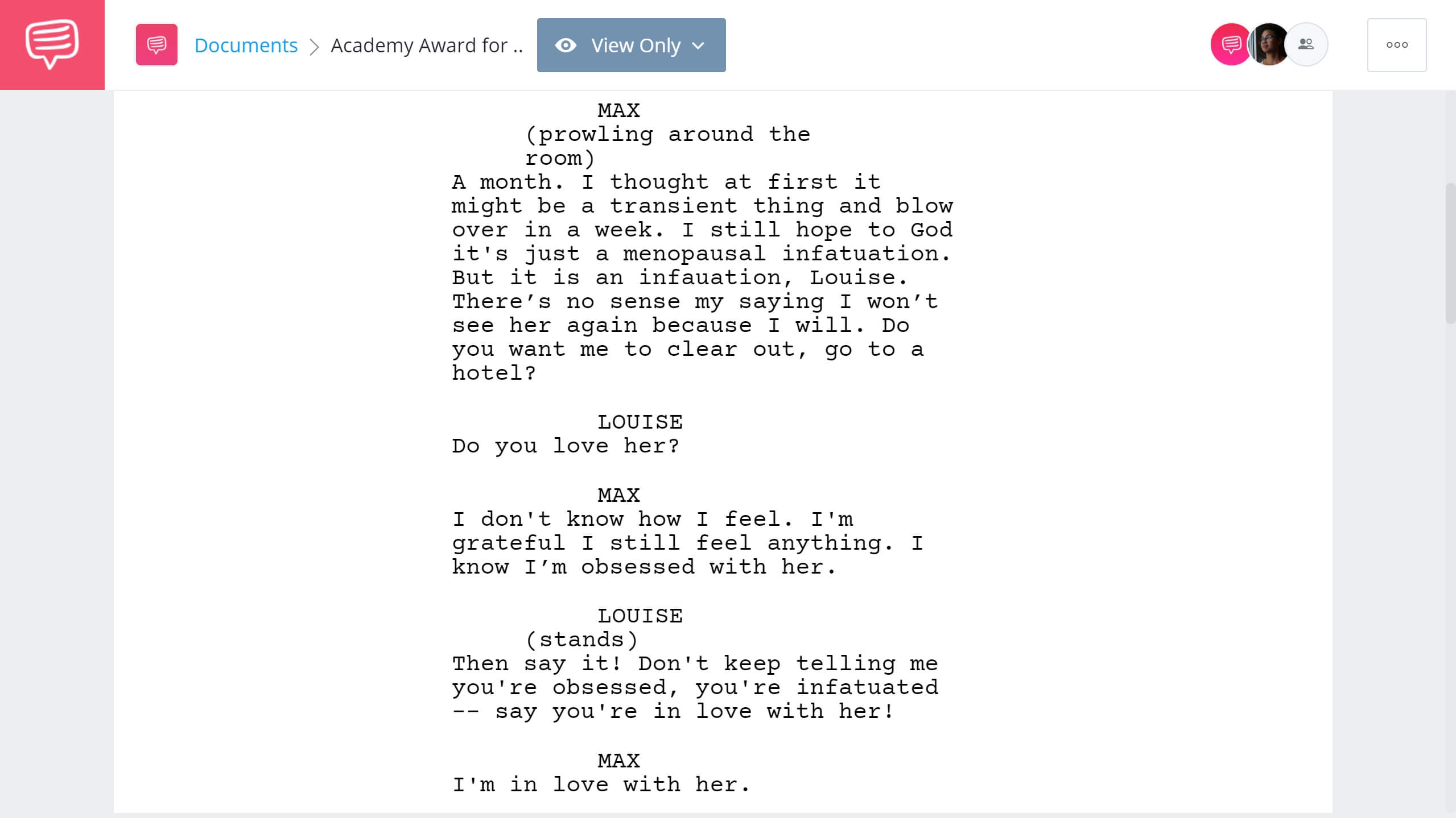 Academy Award for Best Supporting Actress Network Example StudioBinder Screenwriting Software