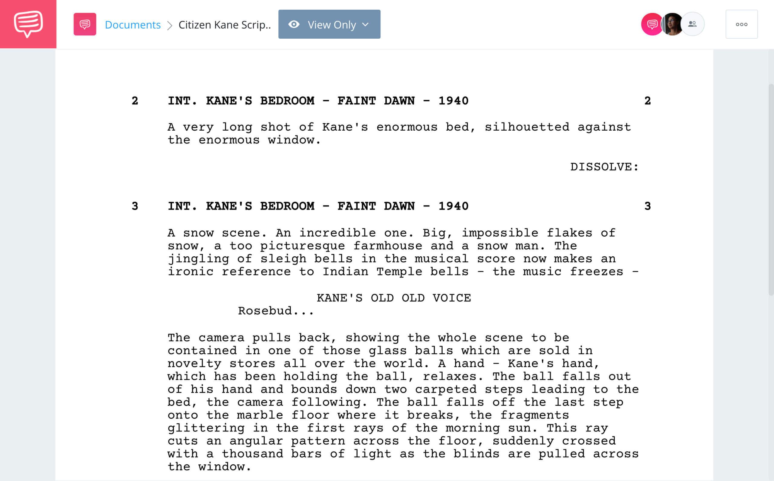 Citizen Kane Script Teardown Opening Scene StudioBinder Screenwriting Software