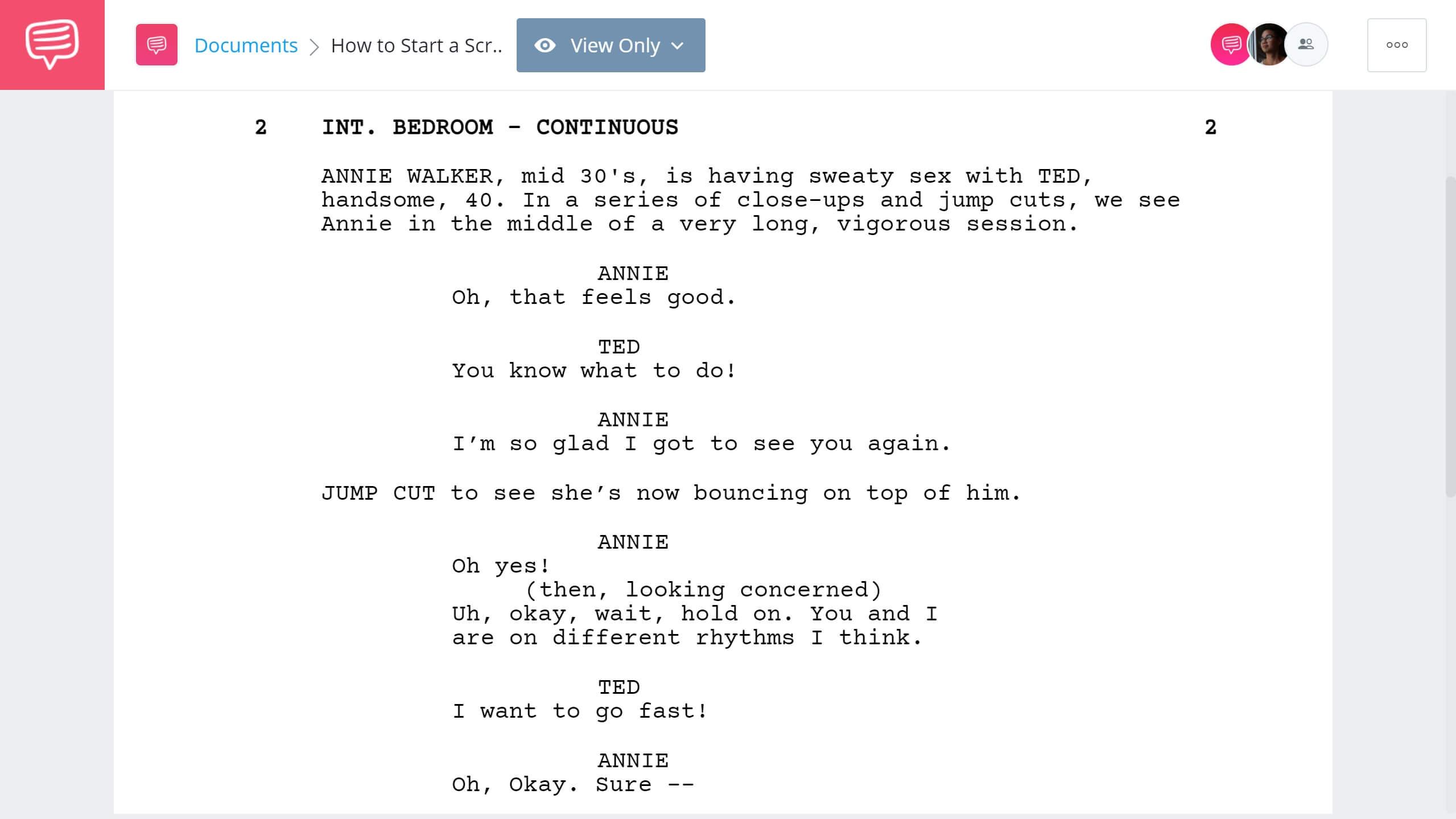 How to Start a Script Bridesmaids First Scene StudioBinder Screenwriting Software