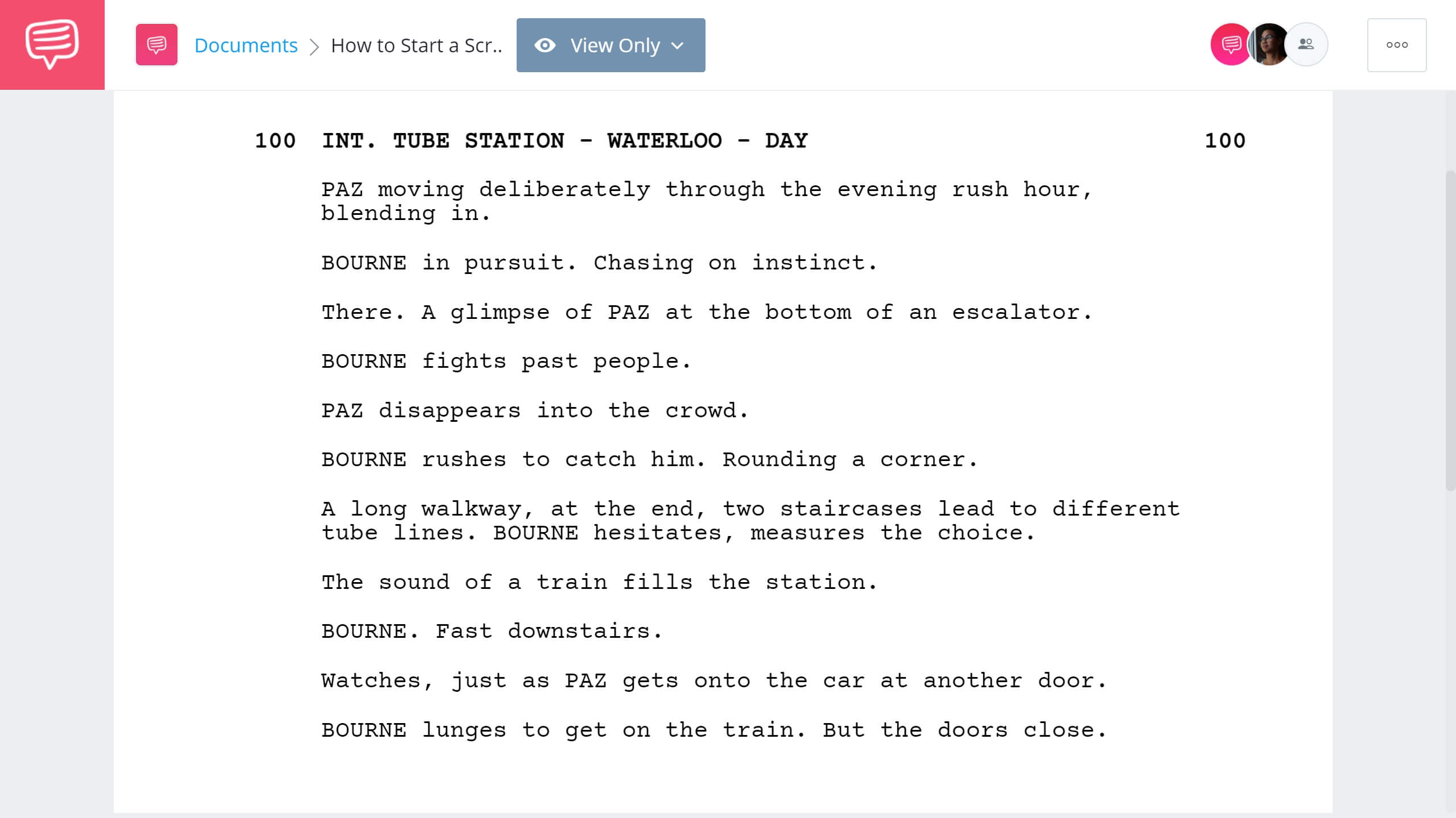 How to Start a Script The Bourne Ultimatum Action Example StudioBinder Screenwriting Software