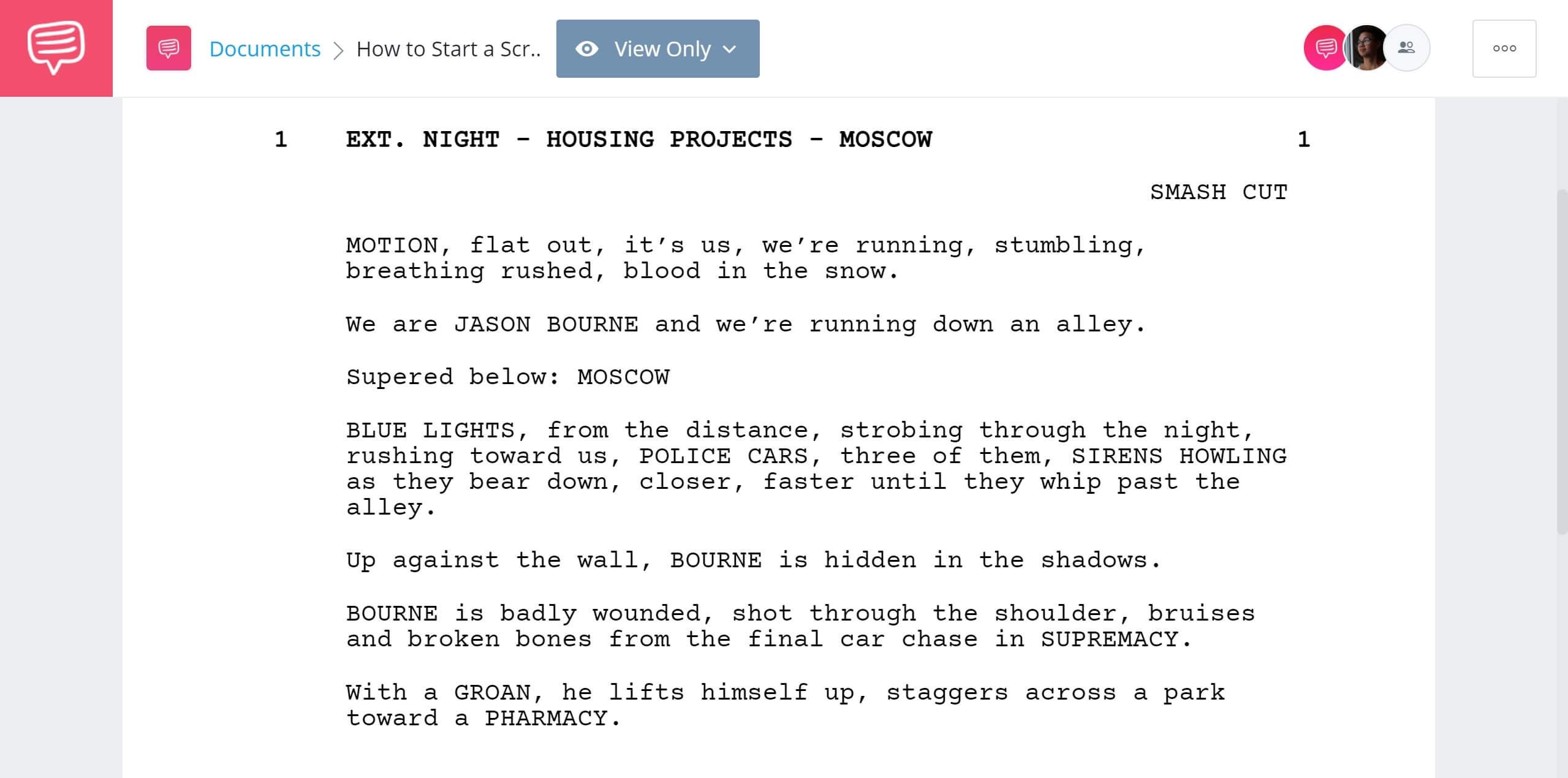 How to Start a Script The Bourne Ultimatum First Scene StudioBinder Screenwriting Software