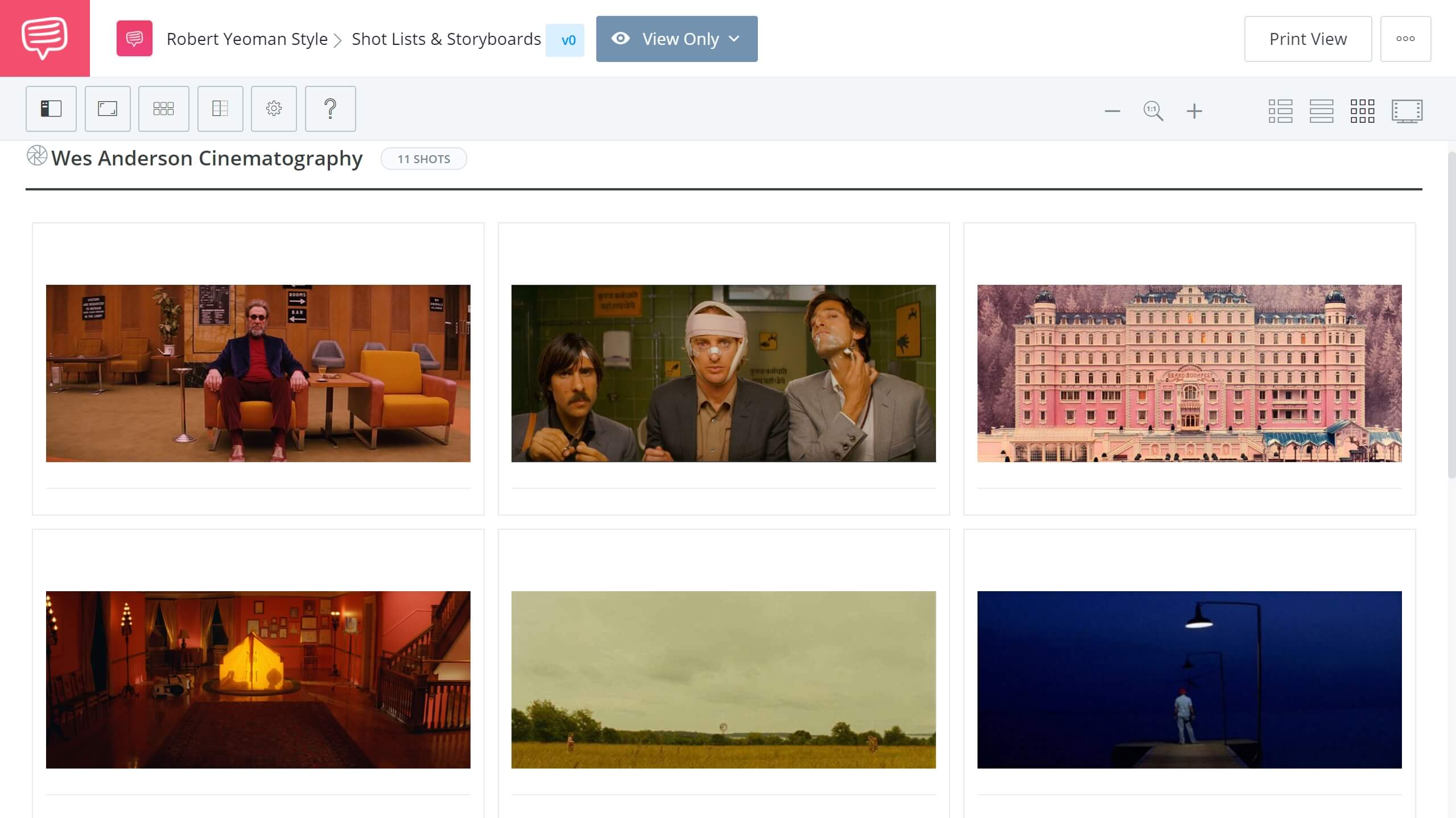 Robert Yeoman Style Wes Anderson Cinematography Storyboard StudioBinder Shot Listing Software