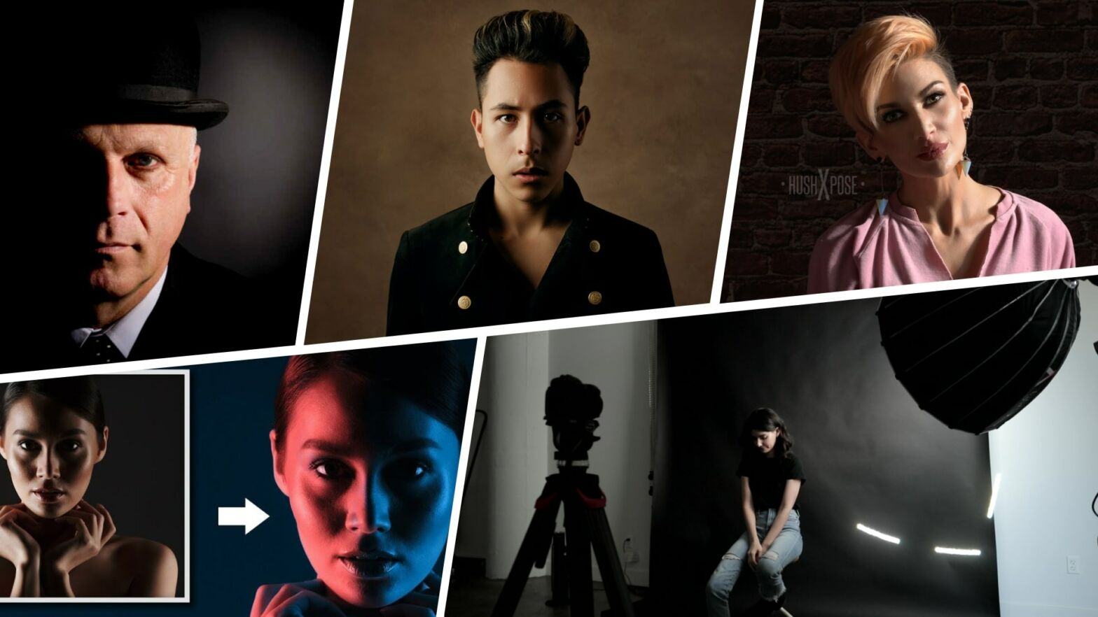 Split Lighting Photography — Examples Patterns and Setups Featured