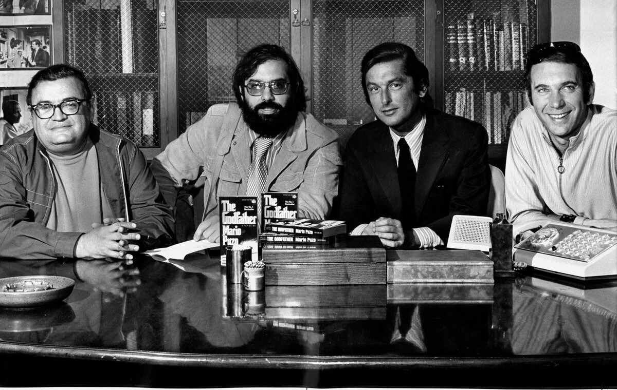 The Godfather Coda • Mario Puzo Francis Ford Coppola Robert Evans and Albert S Ruddy pictured left to right