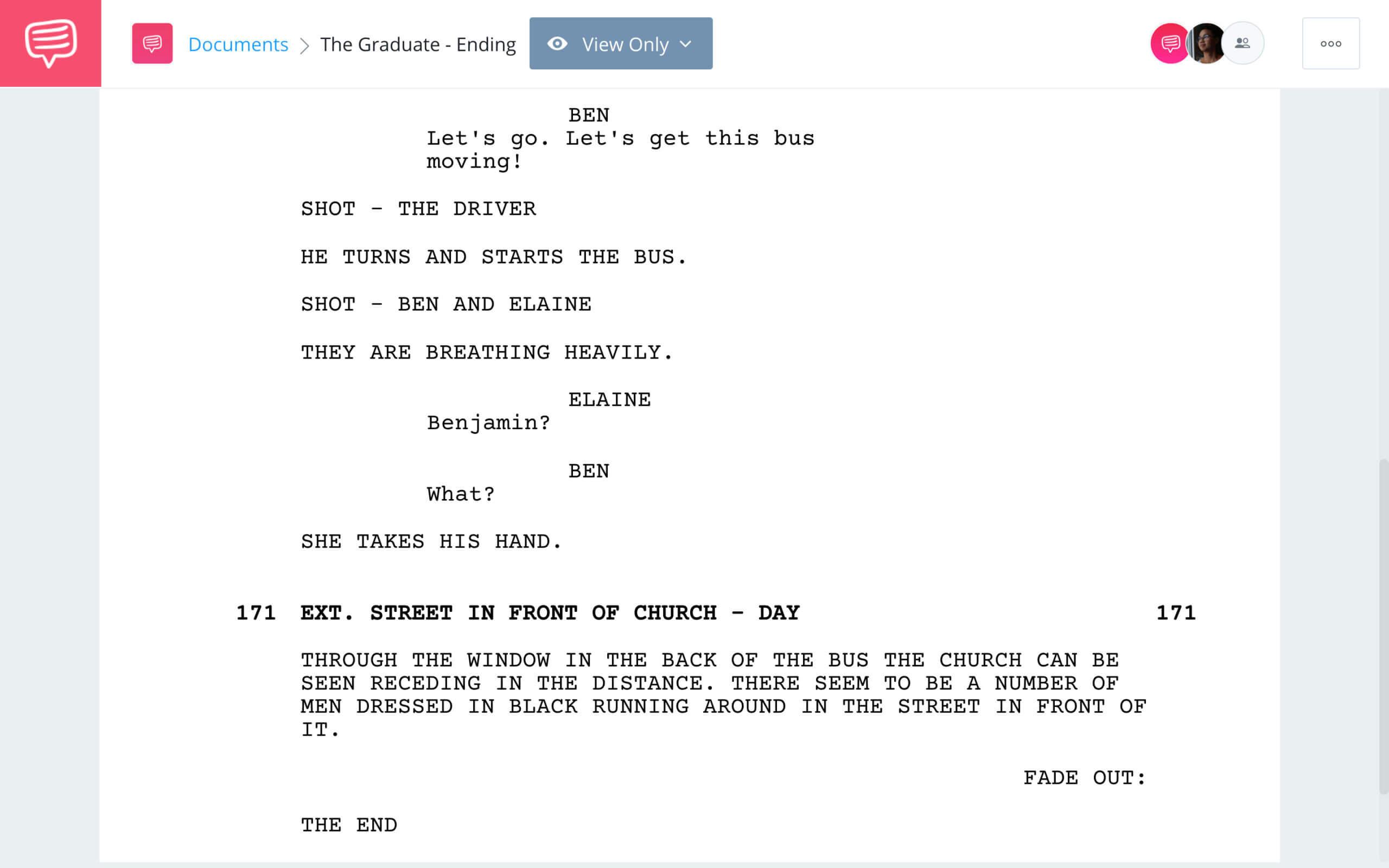 The Graduate Ending Scene Breakdown The Graduate Ending StudioBinder Screenwriting Software