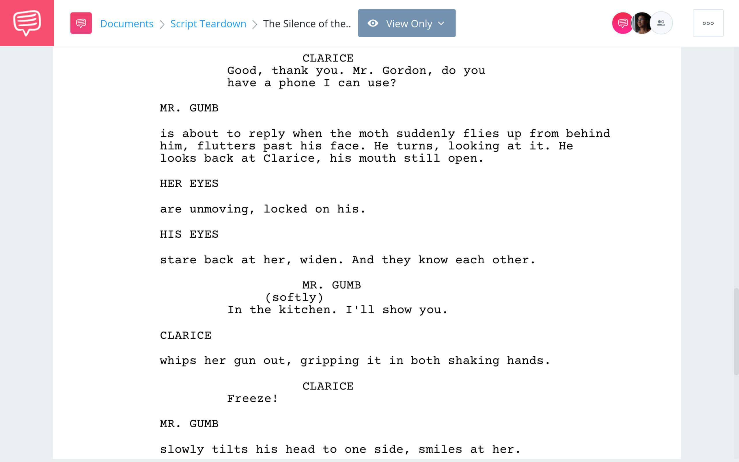 The Silence of the Lambs Script Teardown Ending StudioBinder Screenwriting Software