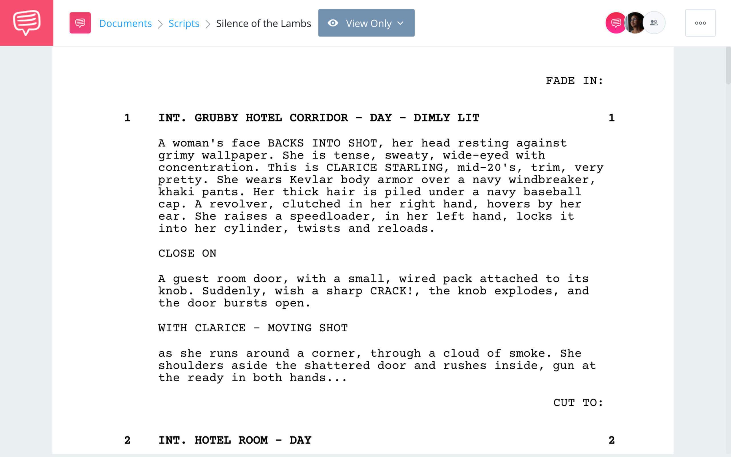 The Silence of the Lambs Script Teardown Full Script PDF Download StudioBinder Screenwriting Software