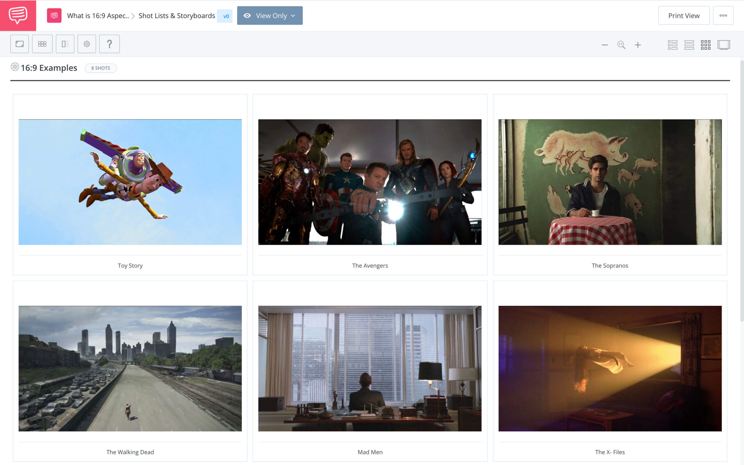 What is Aspect Ratio Storyboard Example StudioBinder Shot Listing Software