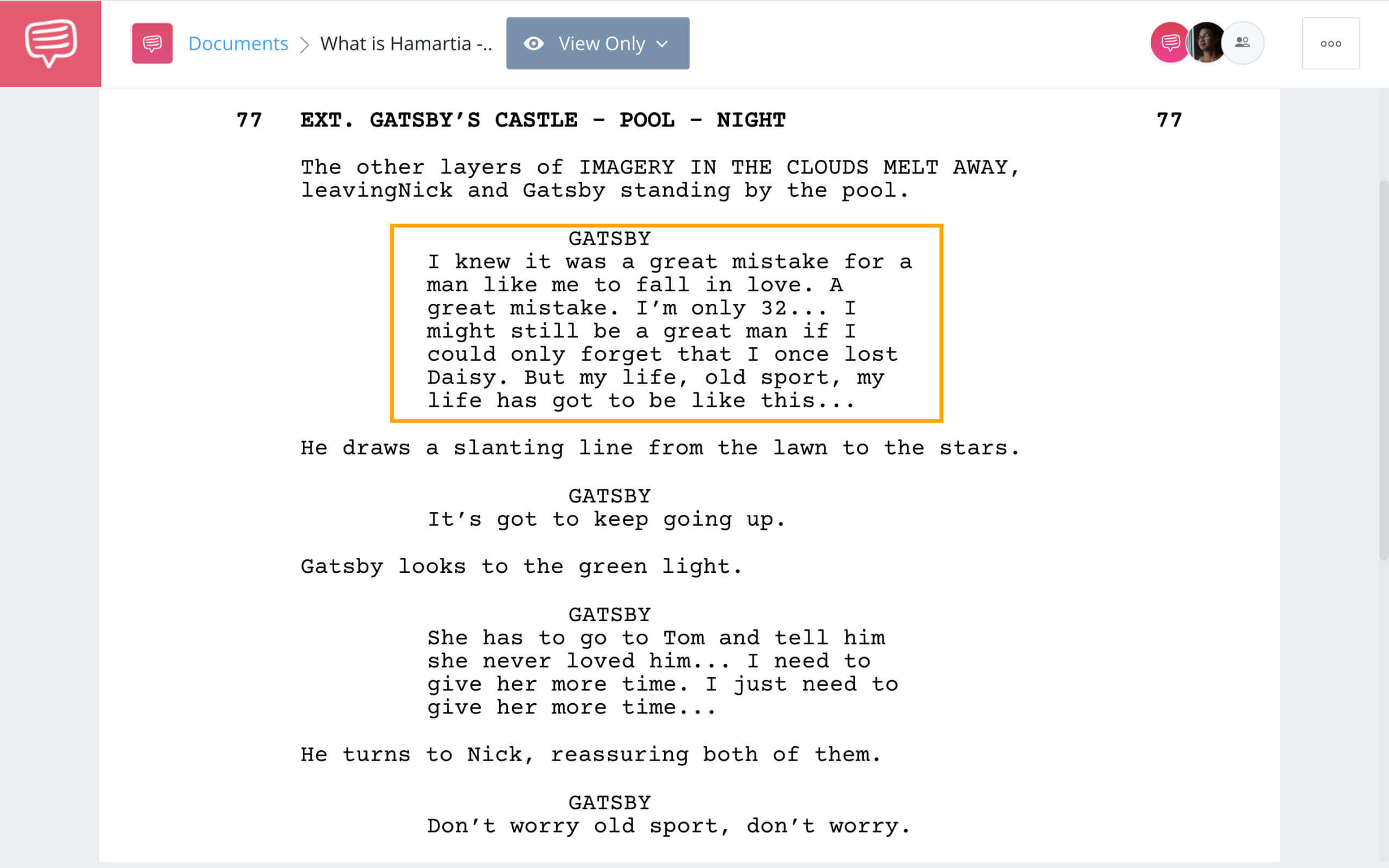 What is Hamartia The Great Gatsby Example StudioBinder Screenwriting Software