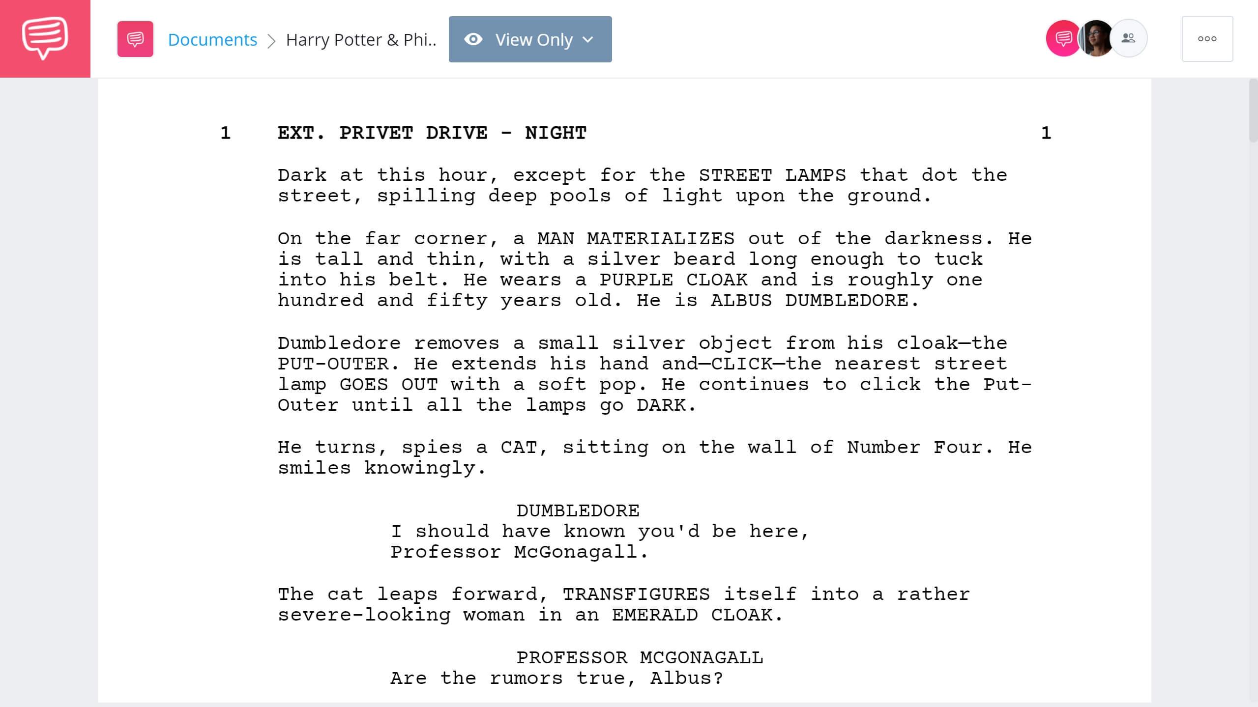 Harry Potter Script Teardown Full Script PDF Download StudioBinder Screenwriting Software