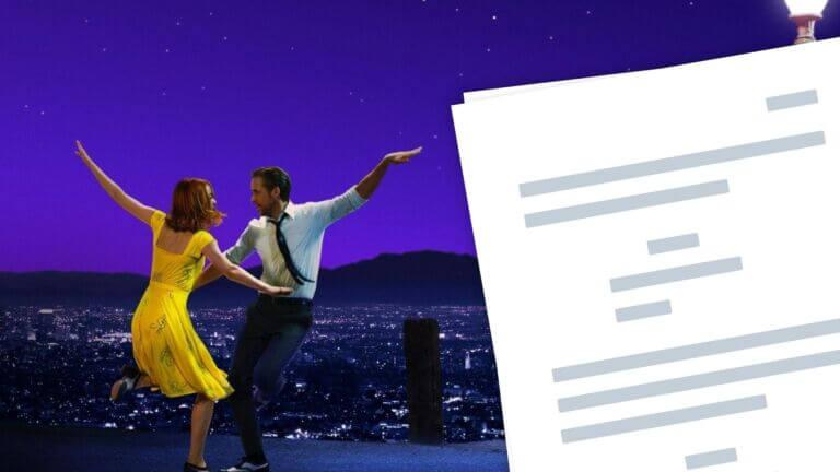 La La Land Script Analysis Free Script Download How to Write Musicals Featured