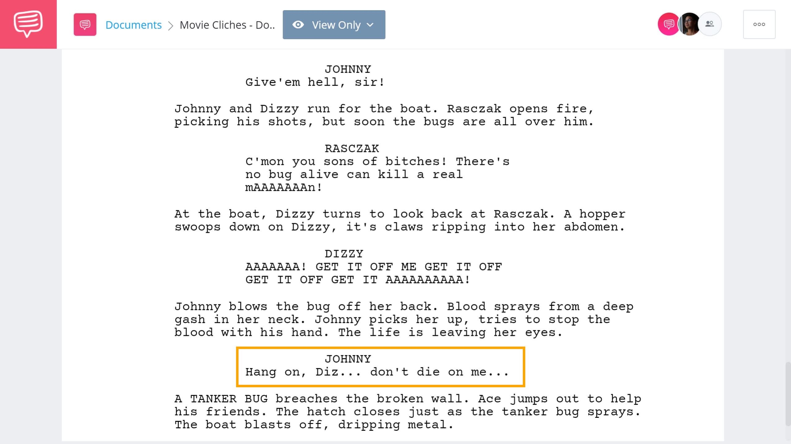 Movie Cliches To Avoid Dont You Die On Me Scene StudioBinder Screenwriting Software