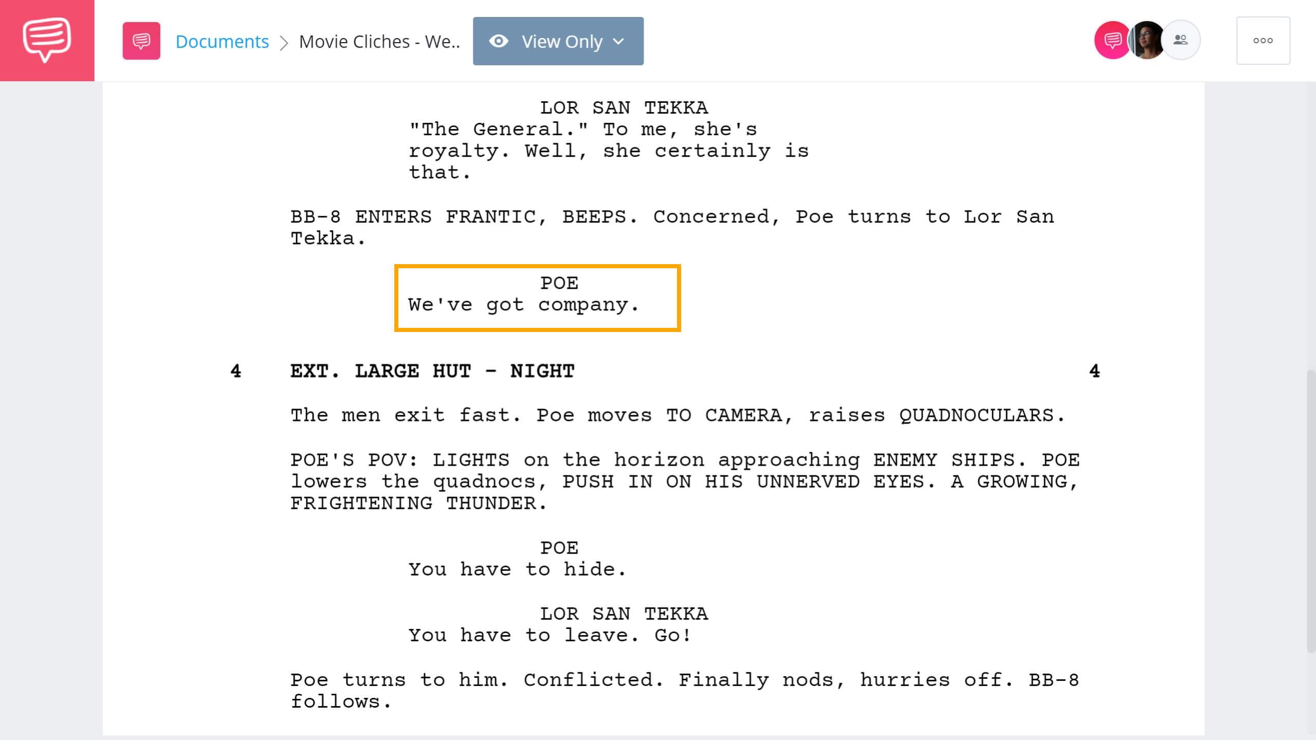 Movie Cliches To Avoid Weve Got Company Scene StudioBinder Screenwriting Software