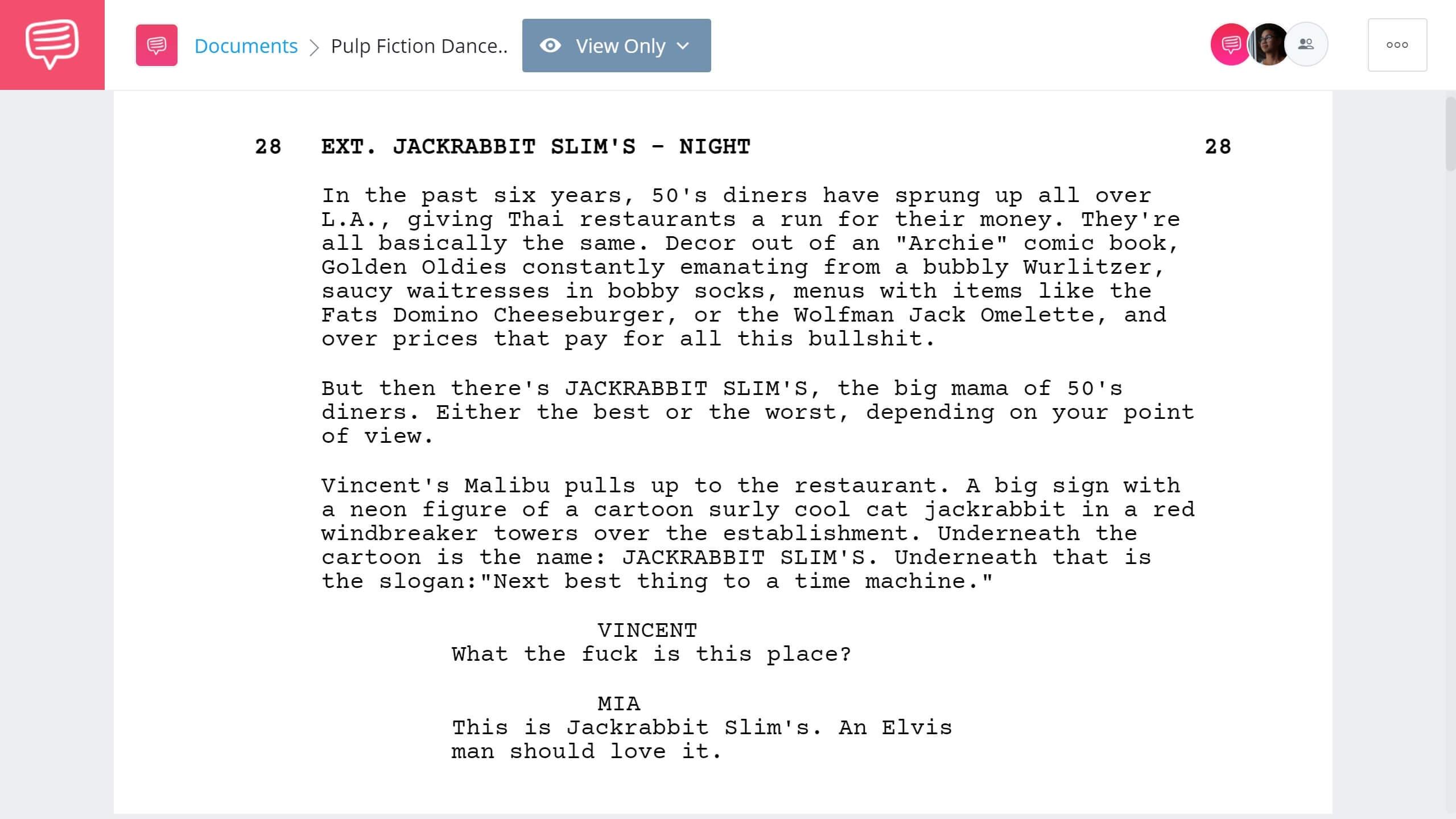 Pulp Fiction Dance Scene Dance Scene StudioBinder Screenwriting Software