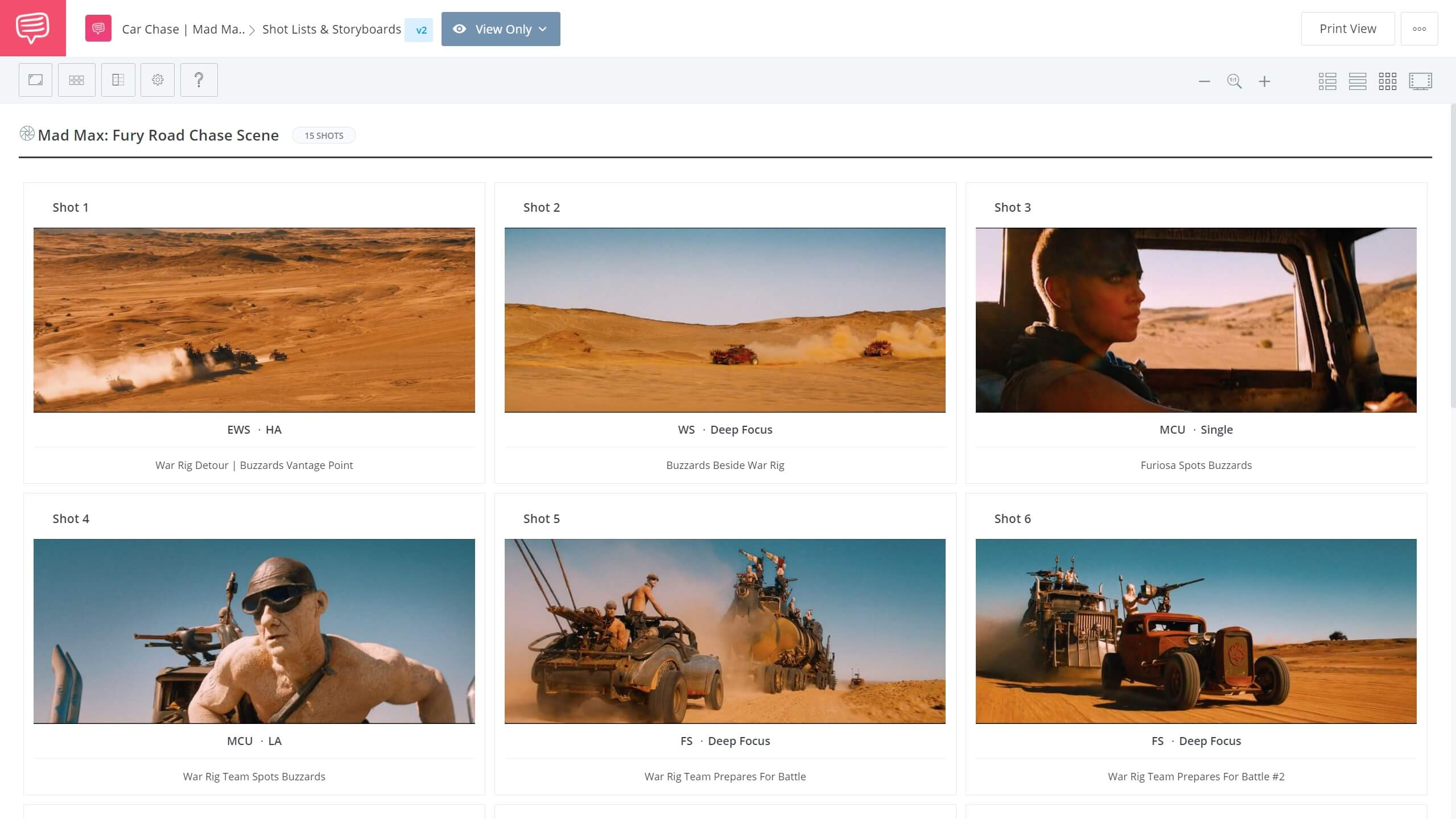 What is Aspect Ratio Mad Max Fury Road Car Chase StudioBinder Online Shot List Software