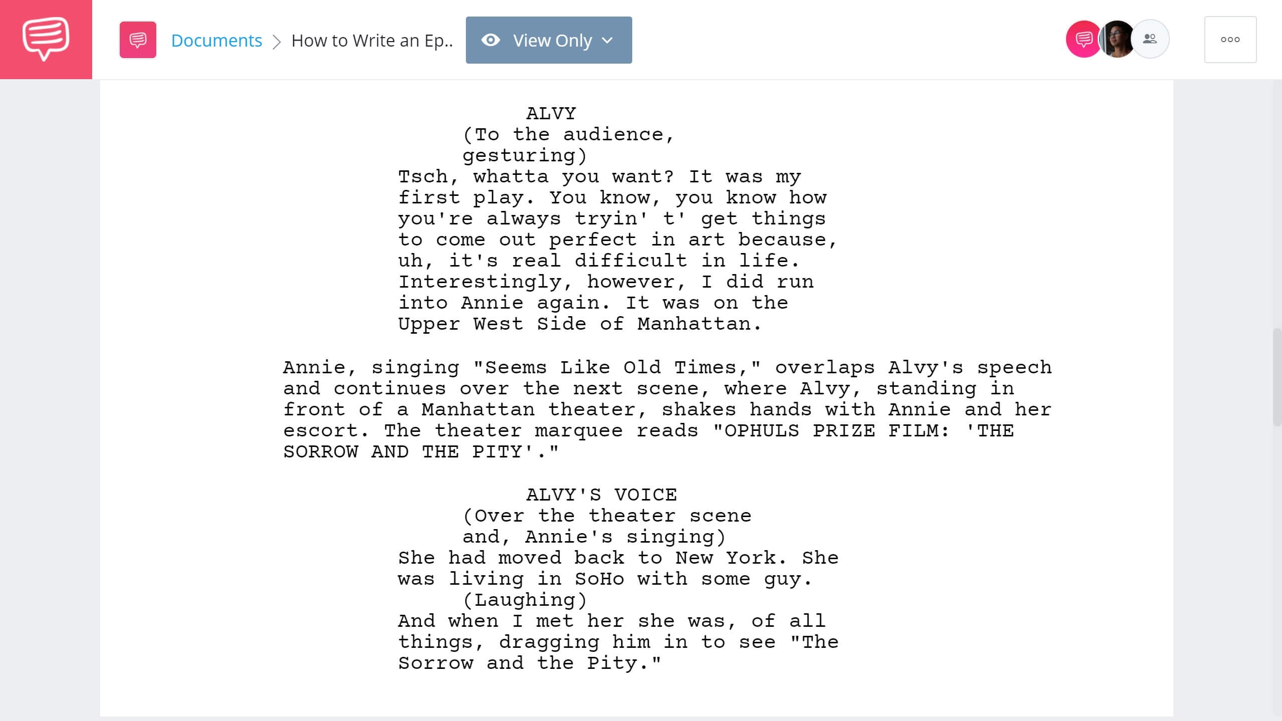 How to Write an Epilogue Annie Hall Example StudioBinder Screenwriting Software
