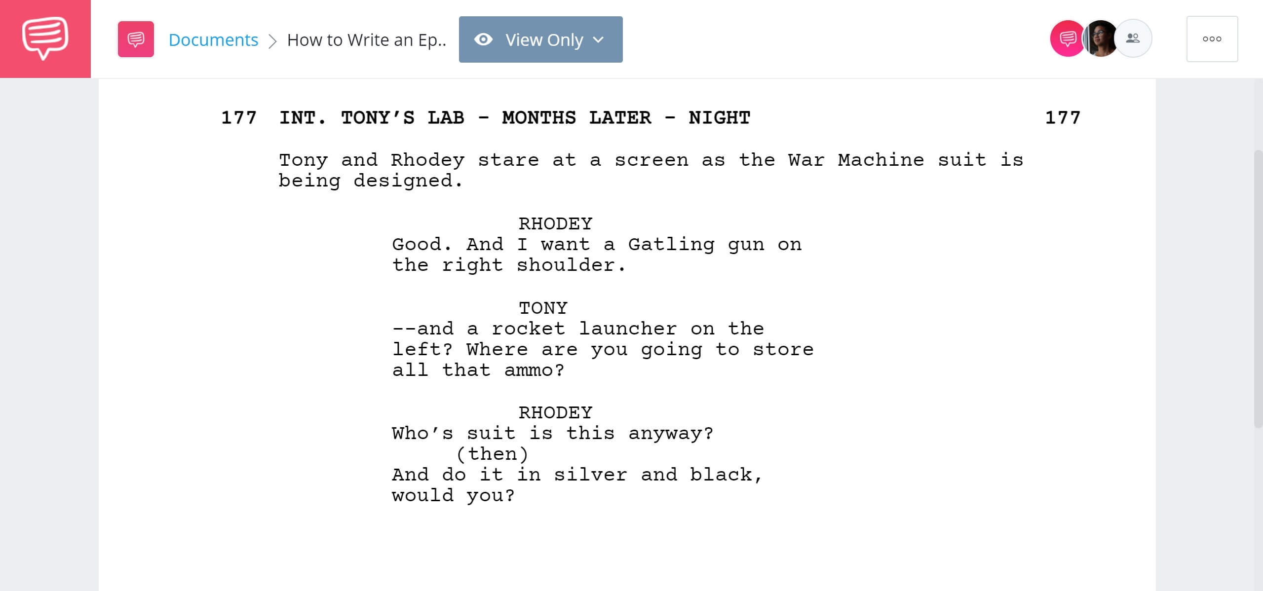 How to Write an Epilogue Iron Man Example StudioBinder Screenwriting Software