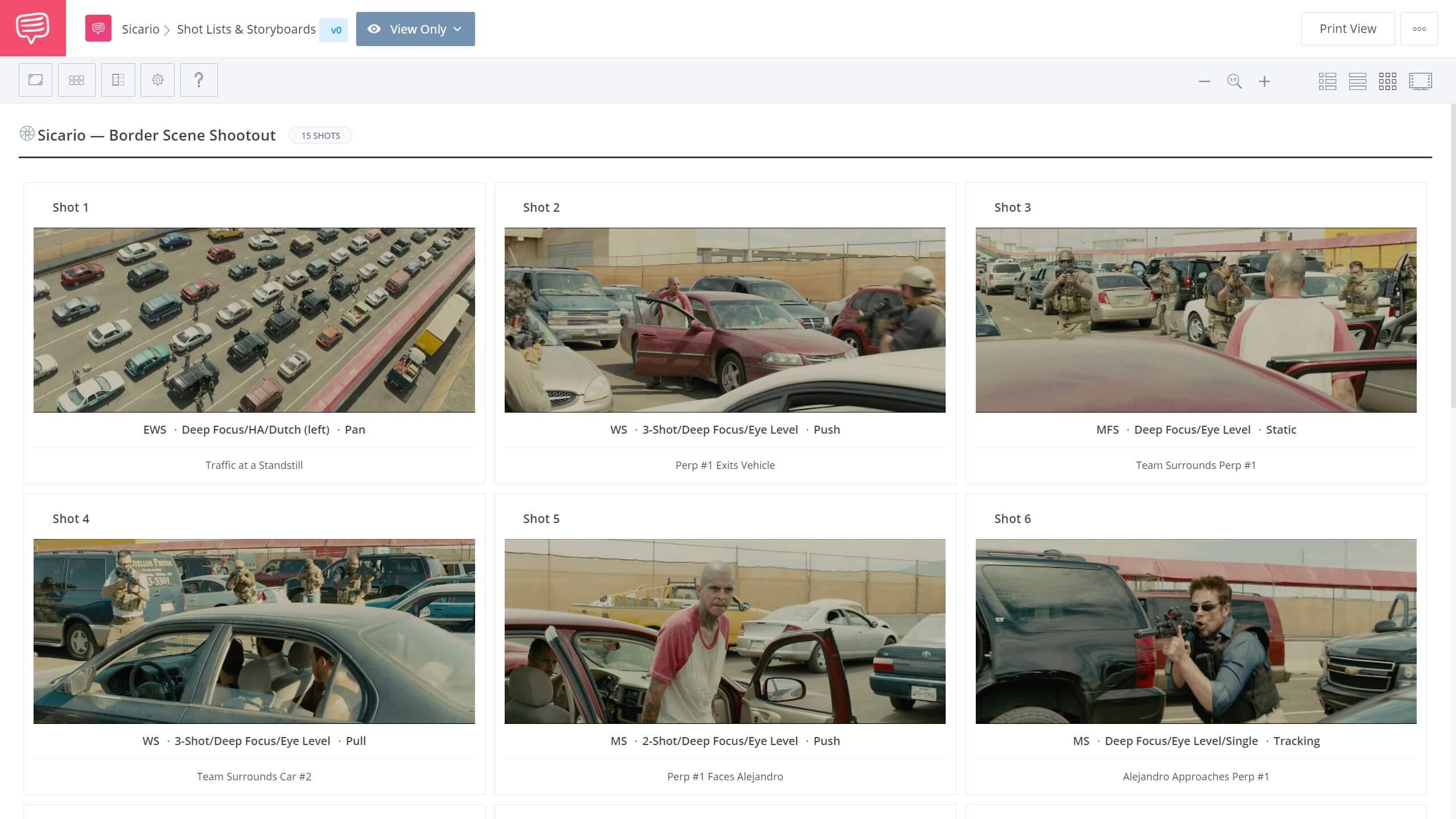 Sicario Cinematography Explained Border Shootout Scene StudioBinder Shot Listing Software