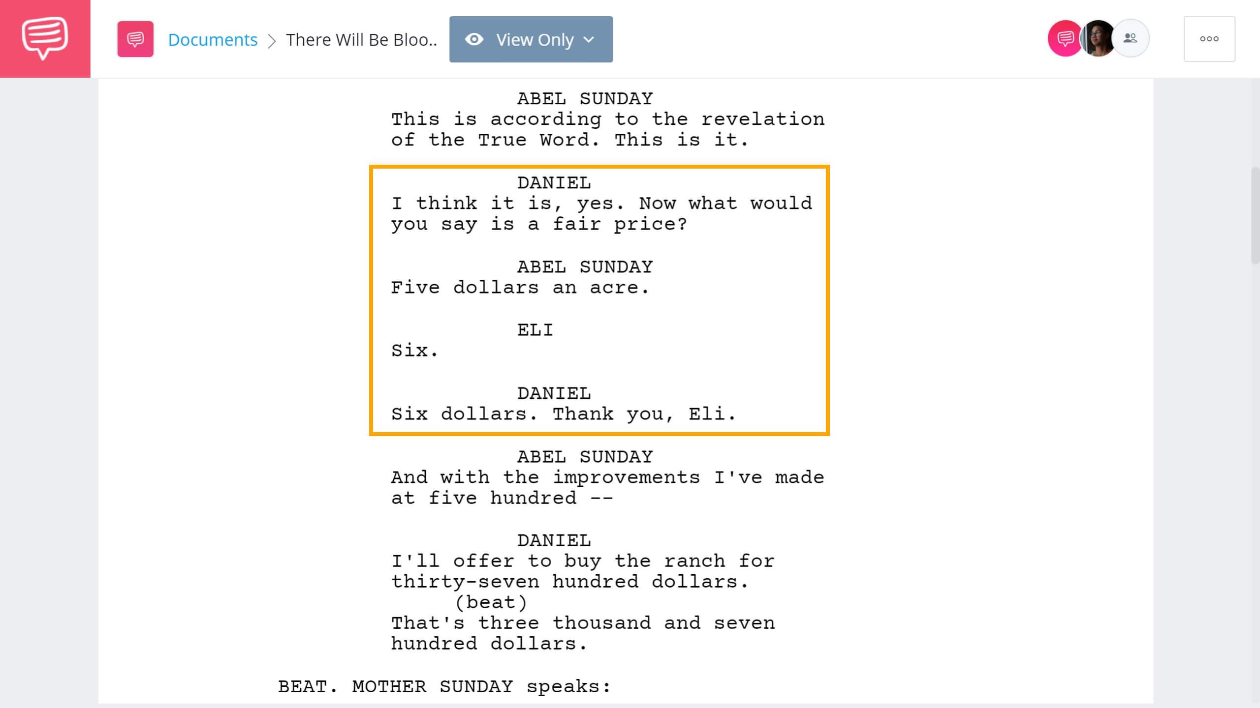 There Will Be Blood Script Teardown Daniel vs Eli Scene StudioBinder Screenwriting Software