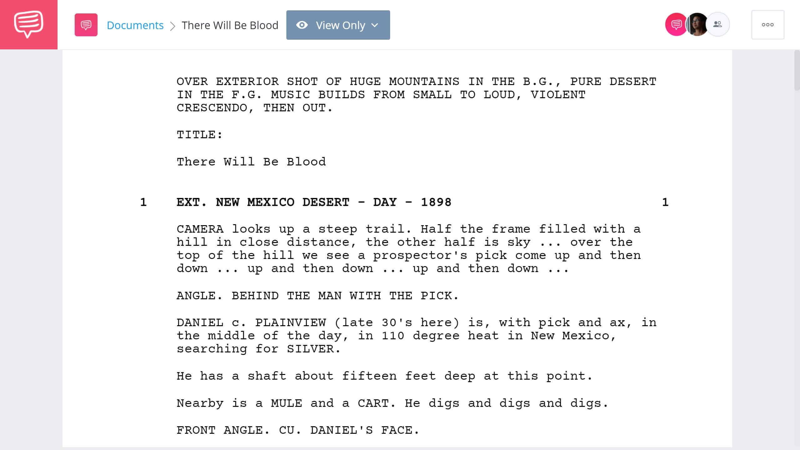 There Will Be Blood Script Teardown Full Script PDF Download StudioBinder Screenwriting Software