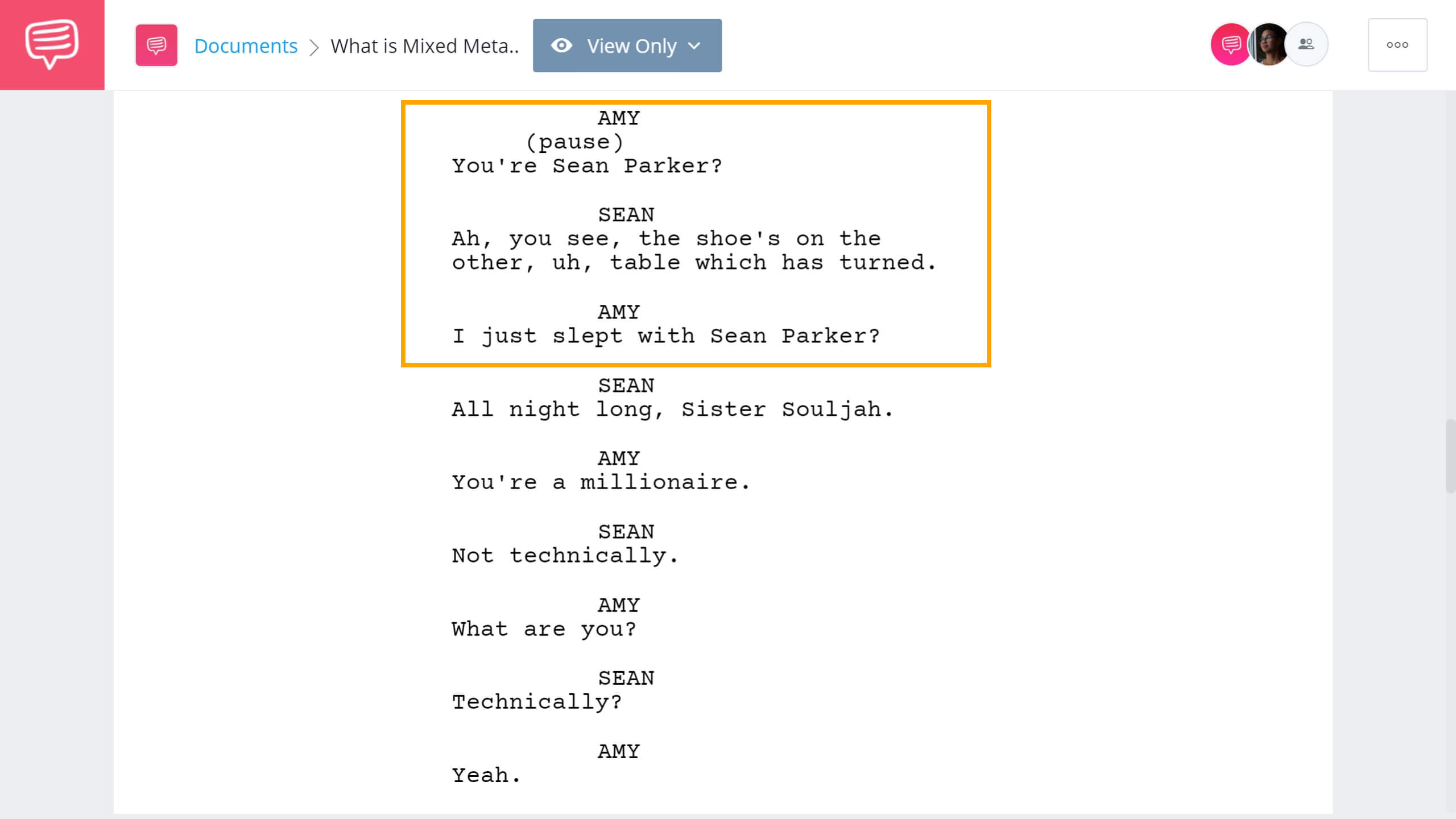 What is Mixed Metaphor The Social Network Example StudioBinder Screenwriting Software